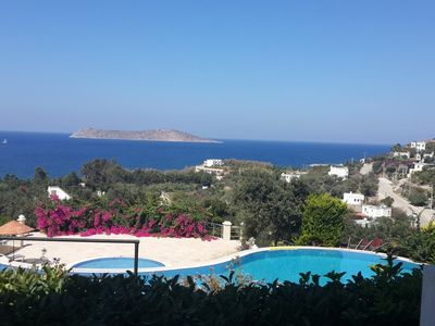 Photo for Furnished House 3 Minutes from Beach with Stunning View. Swimming pool in the new site, open parking, security, taxi way as the sea within walking distance ( 3 min)