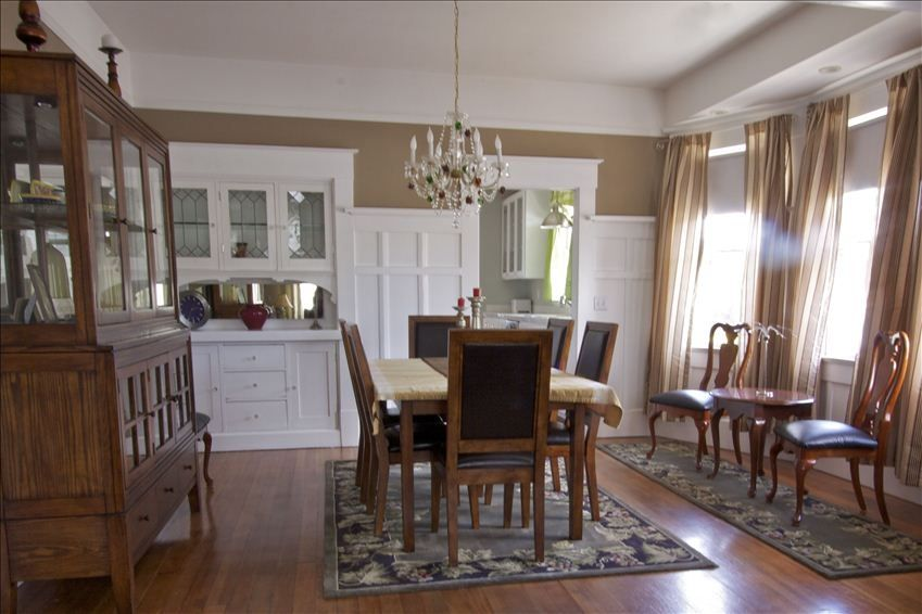 Beautiful Historic Main St Bungalow Dining Room Airy And Bright