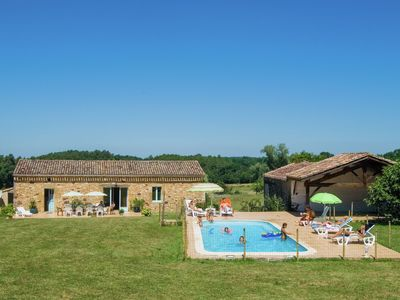 Photo for Lovely Holiday Home in Biron with Swimming Pool