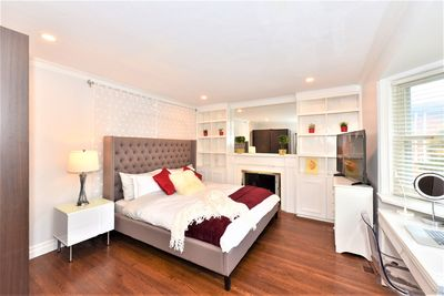 King Bed with TV, desk and printer