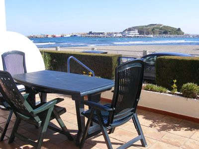 Photo for SANT CARLES 7- MAGNIFICENT APARTMENT IN FRONT LINE BEACH!
