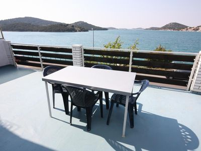 Photo for Two bedroom apartment near beach Tisno, Murter (A-6106-a)