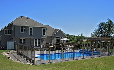 Photo for 4 Bedroom, 2 1/2 Bath, Heated in-ground 18x36 pool, Private estate property