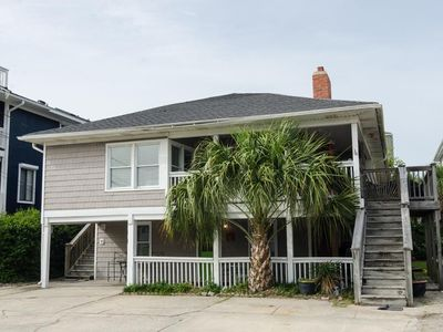Photo for Classic family friendly oceanside duplex with wraparound porch