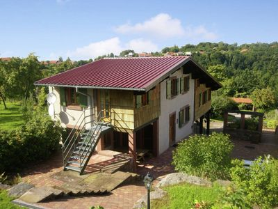 Photo for Detached house on wooded hillside with stunning views in the Moselle