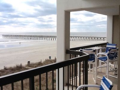 Photo for Beautiful Ocean Front Condo, N. Myrtle Beach (Cherry Grove) SC. 29582
