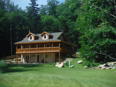 Photo for Secluded Log Home 1/3 mi. from Lifts/Lodge. Waterfalls, View, Pond, Privacy.