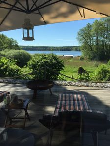 Photo for Fantastic lake view, motor boat, close to the beach, WiFi, fireplace, 2 baths, relaxation