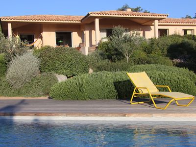 Photo for New villa charm - sea view - beach at 300m - Heated pool -large garden