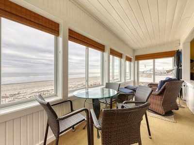 Photo for Inviting beachfront house w/ fireplace -  near parks, water parks and the beach!