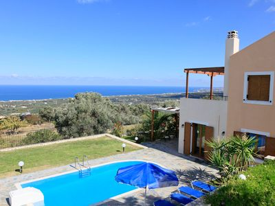 Photo for Villa Garifallia: Large Private Pool, Sea Views, A/C, WiFi