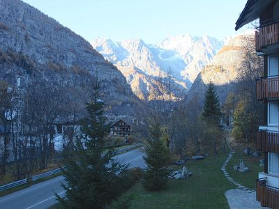 Photo for accommodation with views of Mont Blanc in Courmayeur prestigious summer site invernalel