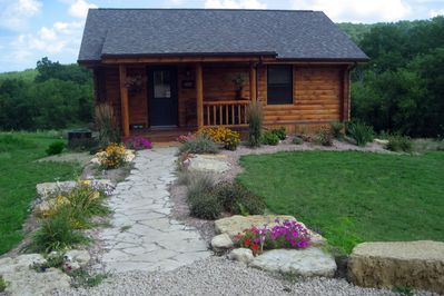 This is the Aster Cabin.  Beautiful in every season!