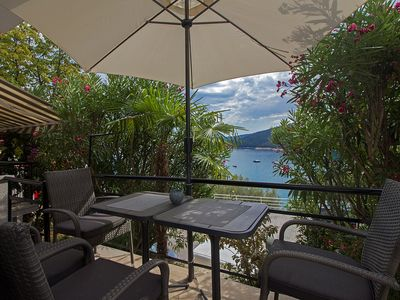 Photo for Holiday apartment Terrace with sea view