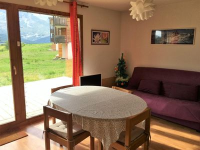 Photo for Surface area : about 36 m². Ground floor. Orientation : West. View mountain