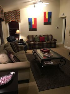 Photo for Beautifully furnished condo walking distance to stadium and campus