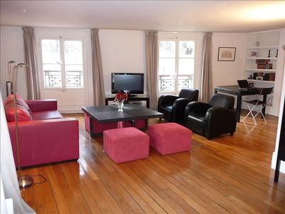 Photo for Spacious, Elegant, 1200 Sq Ft Apartment in the Heart of  St-Germain Des Prés