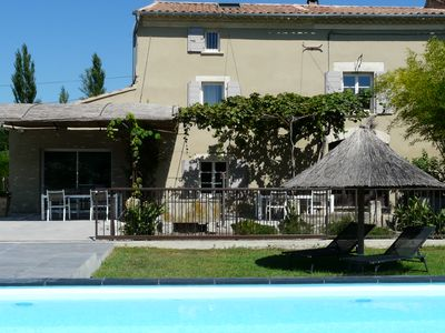 Photo for Typical Provencal farmhouse, heated pool, in Barbentane, near Avignon 8 pers.