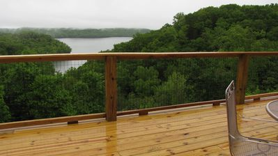 Above the trees, the view from the back deck