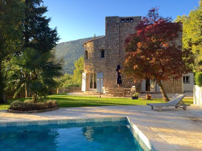Photo for Stylish stone Mas set in the hills with private pool and stunning views