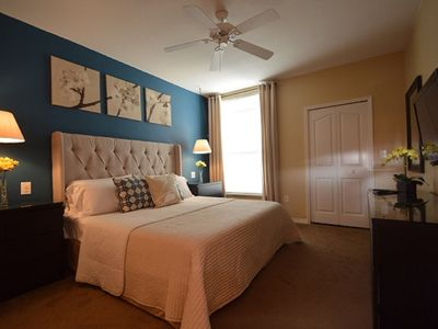Photo for Minutes from Disney, GATED resort, heated pool, gym, separate bedrooms, balcony