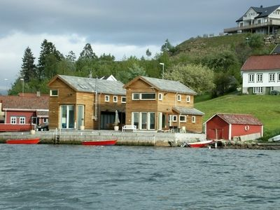 Photo for Modern holiday home for 8 persons - directly on the fjord with panoramic views
