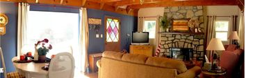 Photo for Walk To Lake & Village! Beautiful 3 Bedroom Cabin. Includes Lake Pass!