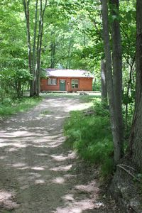 Northern Michigan Log Cabin Located In The Heart Of The Manistee National Forest