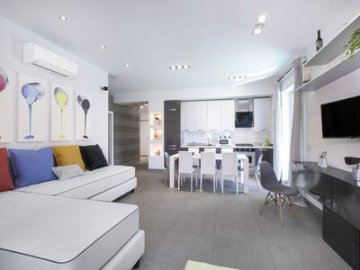 Photo for 2 bedroom Apartment, sleeps 8 with Air Con, FREE WiFi and Walk to Beach & Shops