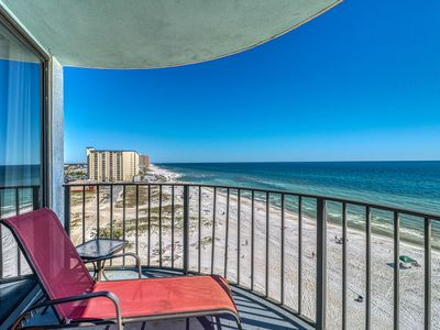 Photo for Condo right on the beach! Pool, tennis, hot tub & private balcony!