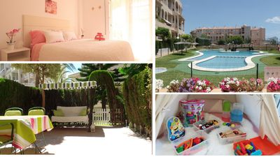Photo for ★  SECOND LINE★ BIG TERRACE ★ 3 Bedrooms Pool, Wifi, Toys, garage, BABY-FRIENDLY