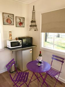 A cosy place to eat your French toast and drink your wine ..coffee or tea.