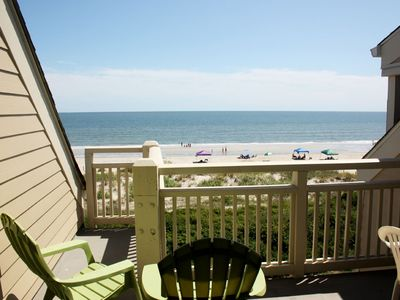 Photo for Ocean Front Paradise: 2 BR / 2 BA condo in Caswell Beach, Sleeps 4