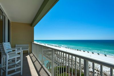 Another view looking over Waters Edge beach from the huge balcony