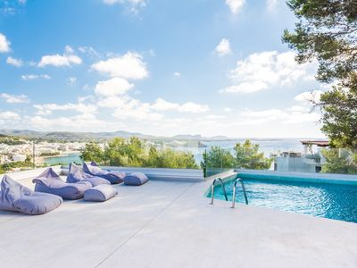 Photo for Stunning Sea, Marina and Mountain views from chic contemporary Villa!