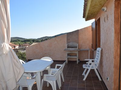 Photo for Apartment in villa in Borgo Chia with terrace of 27m2