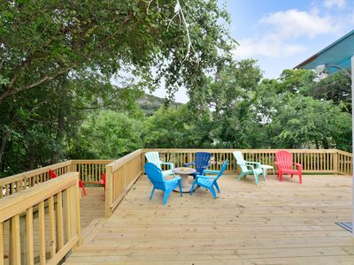 Photo for Modern 3/2 river cabin with the Guadalupe River right in your backyard!!