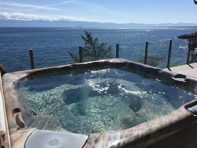 Photo for The best ocean front and mountain view deck in Sooke!