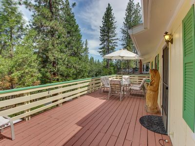 Photo for Rustic home w/large decks, shared pool, great location near marina & more!