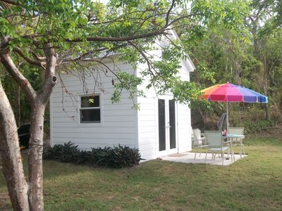 Photo for Tiny House Vacation, Bayfront with private beach area!  On two secluded acres!