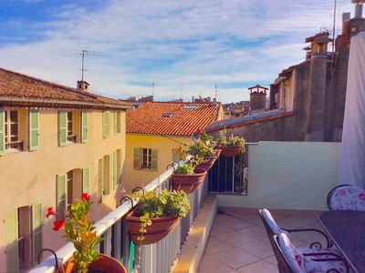 Photo for Antibes - Sunny Rooftop Terrace - 3 Bedroom 2 Bath