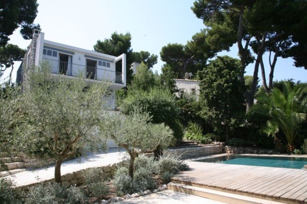 antibes villa rental house from garden - Maison Moderne Antibes
