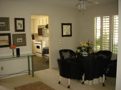 Dining room area,  most window have lovely shutters.