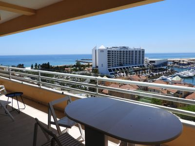 Photo for Penthouse, Air Conditioning, Wifi, Marina and Sea View, Swimming pool, Parking
