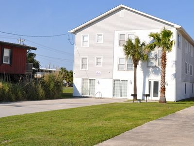 Photo for Large pet friendly house with swimming pool only steps to the beach.