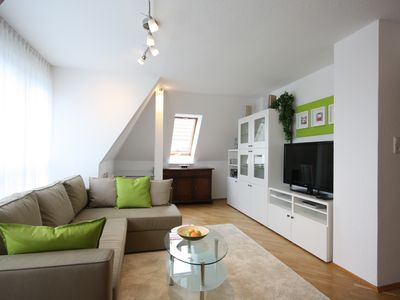 Photo for Very nice attic apartment, quietly yet centrally located.