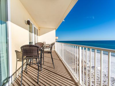 Photo for Top Floor⭐Gulf Front⭐Beach Service⭐2 Step Sanitizing Process⭐3BR Sea Dunes 603