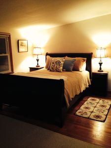 Master Bedroom has a large sitting area too!
