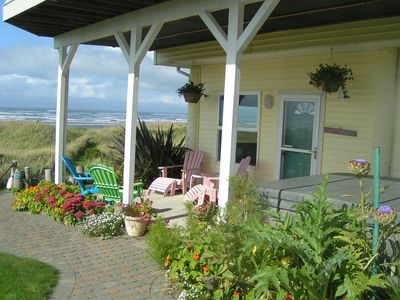 Photo for On the beach in MOCLIPS with hot tub, fireplace, BBQ, patio, beach access & more