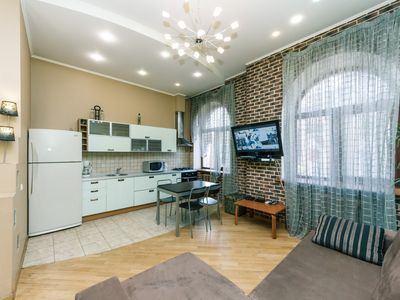 Photo for Two bedrooms. Lux. 5a Baseina. Bessarabian Market, - Apartment, Sleeps 6